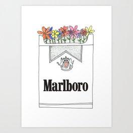 Smoking is pretty Art Print