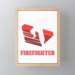 My favorite firefighter calls me dad Framed Mini Art Print