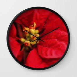 Christmas Flower Wall Clock