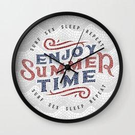 Enjoy Summer Time Wall Clock