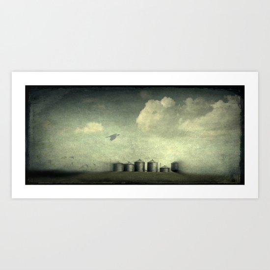 Silos of the Prairies Art Print