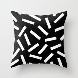 80s Memphis Bacteria Sprinkles Throw Pillow
