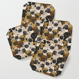 Social Pugs Coaster