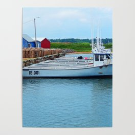 Lobster Boats and Traps Poster