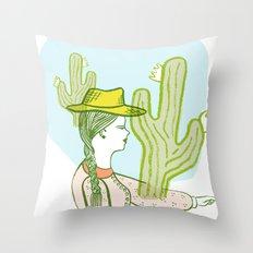 Westward Ho! Throw Pillow