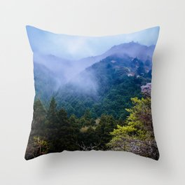 Japanese forest 2 Throw Pillow