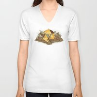 hyrule V-neck T-shirts featuring Keep Hyrule Green by TEEvsTEE