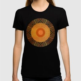 """""""Savanna Orange-Gold Mandala"""" T-shirt"""