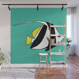 Schooling Bannerfish natural colors Wall Mural