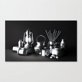 Chromed metal Canvas Print