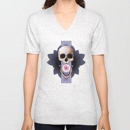 Mandala Skull Unisex V-Neck