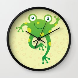 Sweet Baby Frog Wall Clock