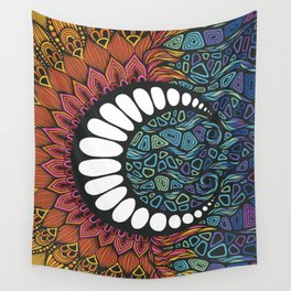 Sun Comes The Moon Wall Tapestry