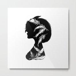 Owlphelia Silhouette Metal Print