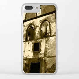 House in ruins Clear iPhone Case