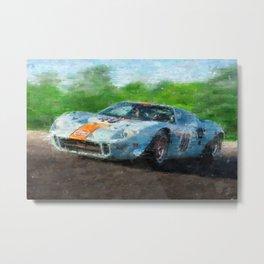 Ford GT 40, Gulf Metal Print