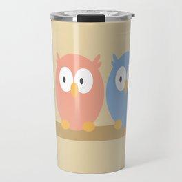 three owls Travel Mug
