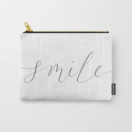 'Smile' Modern Calligraphy Carry-All Pouch