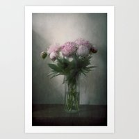 peonies Art Prints featuring Peonies by Pauline Fowler ( Polly470 )
