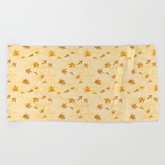 Leaves pattern Beach Towel