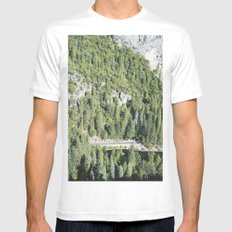 nature meets highway White MEDIUM Mens Fitted Tee