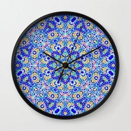 Arabesque kaleidoscopic Mosaic G512 Wall Clock