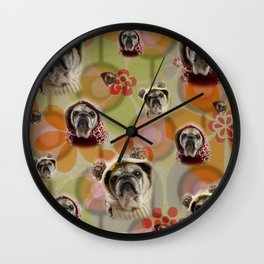 Everything is coming up Buttons Wall Clock