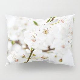 White blooming Pillow Sham