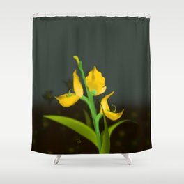 Yellow Fabaceae Shower Curtain