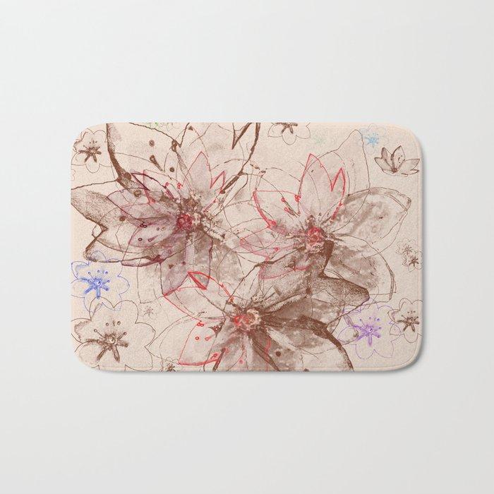Whirlwind of petals(6). Bath Mat