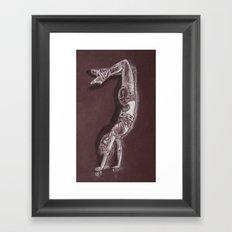 Black and White Drawing Framed Art Print