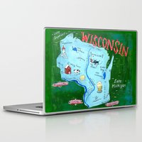 wisconsin Laptop & iPad Skins featuring WISCONSIN by Christiane Engel