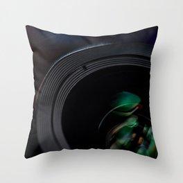 Professional Photography Lens closeup Throw Pillow