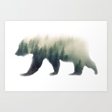 Grizzly Bear Dream Art Print