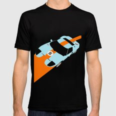 Orange Notch - Ford GT40 Race Car Black MEDIUM Mens Fitted Tee