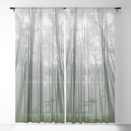 Smoky Mountain Summer Forest VII - National Park Nature Photography Sheer Curtain