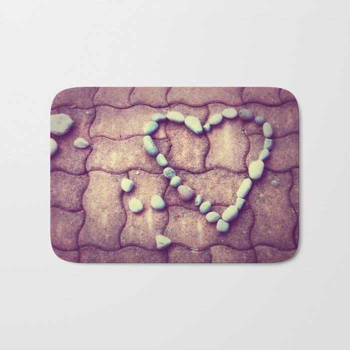 Heart  - JUSTART © Bath Mat