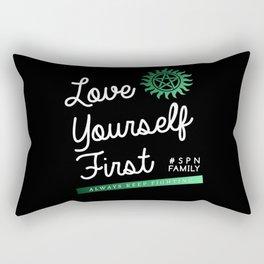 Always Keep Fighting - Love Yourself First Rectangular Pillow