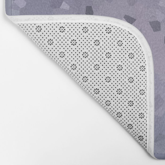 Abstract geometric pattern in blue grey and purple colours . Crystals Bath Mat