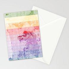 Rainbow World Map Stationery Cards