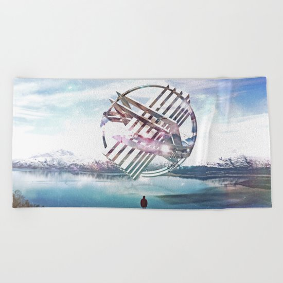 by the lake Beach Towel