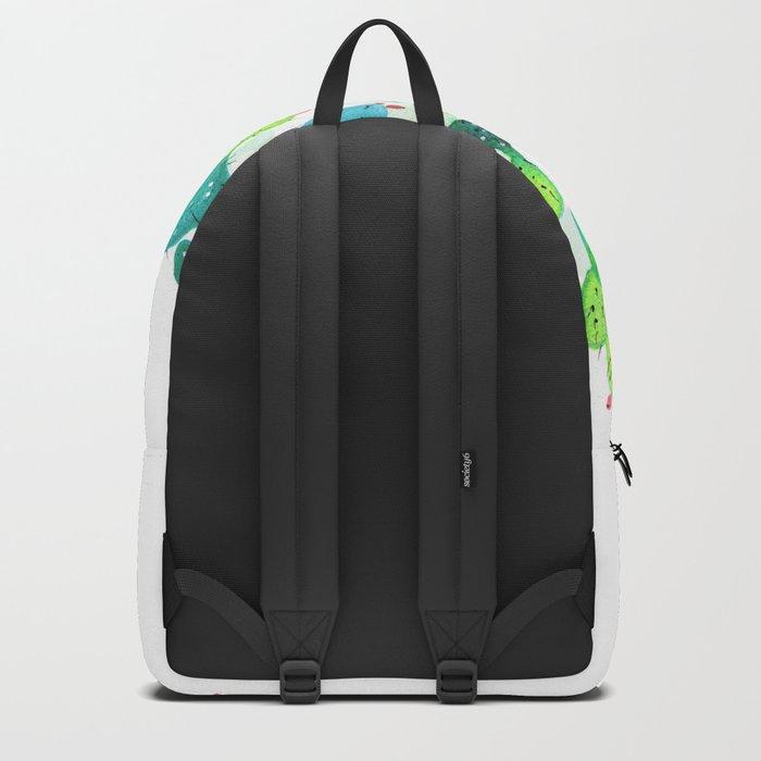 Watercolour Cacti Backpack