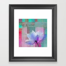 Live n Love - sp 99a Framed Art Print