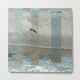 Geometric Sea Birds Metal Print