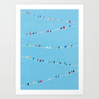 Birds of Colorful Feathers Art Print