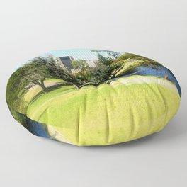 Adelaide Torrens River and CBD Floor Pillow