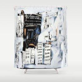 Basquiat City Shower Curtain