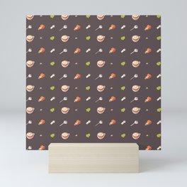 Icing Cookie Pattern_Dark Mini Art Print