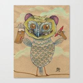 GINGERBREAD BIRD Canvas Print