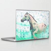 sea horse Laptop & iPad Skins featuring horse by batik shop